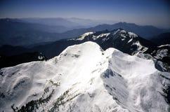 berg snöig taiwan Royaltyfri Fotografi