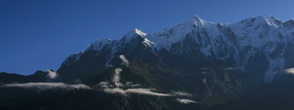berg snöig tibet Royaltyfri Bild