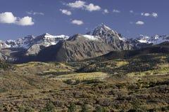 Berg Sneffels-Gebirgszug im Herbst Lizenzfreie Stockfotografie