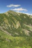 Berg Snezka i Krkonose Arkivfoton