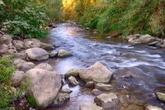 Berg Snir & x28; Hasbani& x29; flod arkivbild