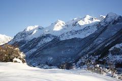 berg snowed tenadalen Royaltyfria Foton