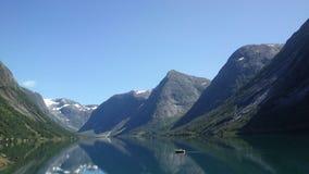 Berg in sogn og fjordane Noorwegen royalty-vrije stock afbeelding