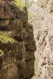 Berg som är liknande till profilen av en indier Arkivbild