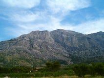 Berg som omges av grönska Arkivbild