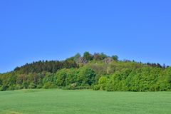Berg-spitzberg im Sachsen Lizenzfreie Stockfotografie