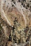 berg steniga yellowstone Arkivbild