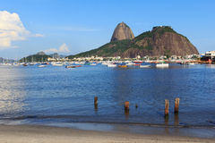 Berg Sugarloaf en Guanabara-baai, Rio de Janeiro stock foto