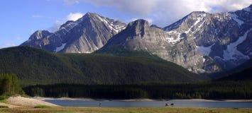 Berg Sunwash Stockbilder