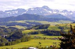 berg switzerland Fotografering för Bildbyråer