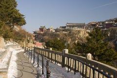 Berg Tai av Shangdong Kina Arkivbild
