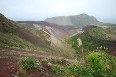 Berg Tarawera nach Regen Stockbild