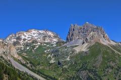 Berg Thabor und Le Grand Seru Lizenzfreies Stockbild