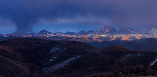 Berg in Tibet Lizenzfreies Stockbild
