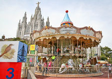 Berg Tibidabo, Barcelona Lizenzfreie Stockfotos