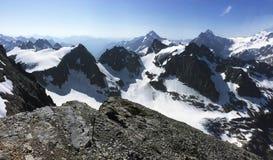 Berg Titlis das Juwel in der Mittel-Schweiz Panoramische Ansicht stockfotografie