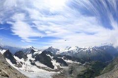 Berg Titlis-Panorama Stockfotografie