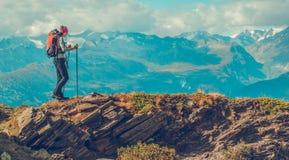 Berg-Trailhead-Trekking stockbild