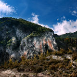 Berg in Tropoja, Albanien stockfotos