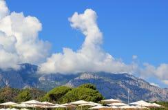 Berg in Turkije met wolken Royalty-vrije Stock Foto
