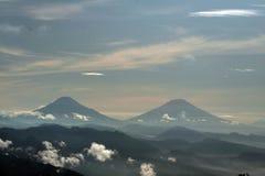 berg två Arkivfoto