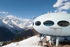 Berg-UFO-Haus stockbild