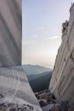 Berg-und Marmorsteinbruch Lizenzfreies Stockfoto