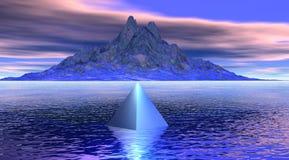 Berg und Pyramide lizenzfreie abbildung