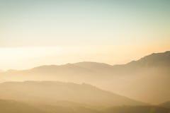 Berg und Schicht Sepia stockbild