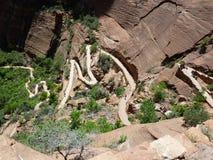 Berg- und Talbahnen Zion im Nationalpark Lizenzfreie Stockfotos