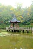 Berg und Tempel Nanjings Xixia im Herbst Stockfotos