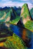 Berg und Wasser Lizenzfreie Stockbilder