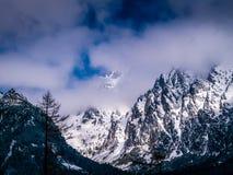 Berg under vintern, Vysoke Tatry, Slovakien Fotografering för Bildbyråer