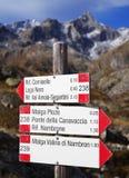 Berg unterzeichnet herein Adamello - Presanella alpines Groupy Lizenzfreie Stockbilder