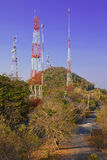 Berg van antennes. Stock Foto
