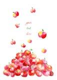 Berg van appelen stock illustratie