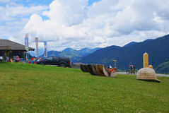 Berg van de betekenissen in de Berg van Alpen Royalty-vrije Stock Foto