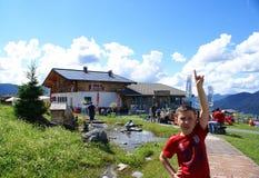 Berg van de betekenissen in de Berg van Alpen Stock Afbeeldingen