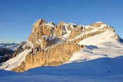 Berg 1 van de dolomietwinter Stock Afbeelding