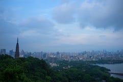Berg van hangzhou Stock Fotografie
