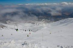 Berg van Sneeuw Royalty-vrije Stock Afbeeldingen