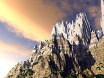 Berg van Sneeuw Royalty-vrije Stock Afbeelding