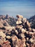 Berg van stenen Stock Afbeelding