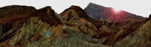 Berg van woestijn stock fotografie