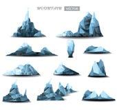 Berg veelhoekige vastgestelde achtergrond Stock Foto
