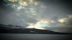 Berg vid Thunhovdsfjorden Arkivfoton