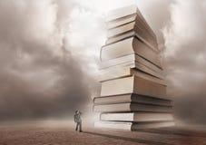 Berg von Büchern Stockbild