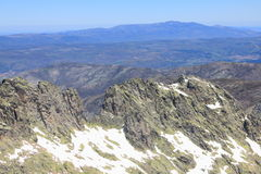 Berg von Gredos in Avila in Kastilien Stockbild