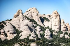 Berg von Montserrat in Katalonien Stockfotos