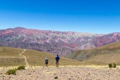 Berg von vierzehn Farben in Humahuaca, Argentinar Stockfotografie